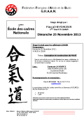 Stage GHAAN : 25 novembre 2012 - AIKIDO - ISSY-LES-MOULINEAUX (F-92130)