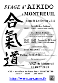 Stage ARZ : 23 février 2013 - AIKIDO - MONTREUIL (F-93100)