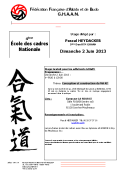 Stage GHAAN : 02 juin 2013 - AIKIDO - ISSY-LES-MOULINEAUX (F-92130)